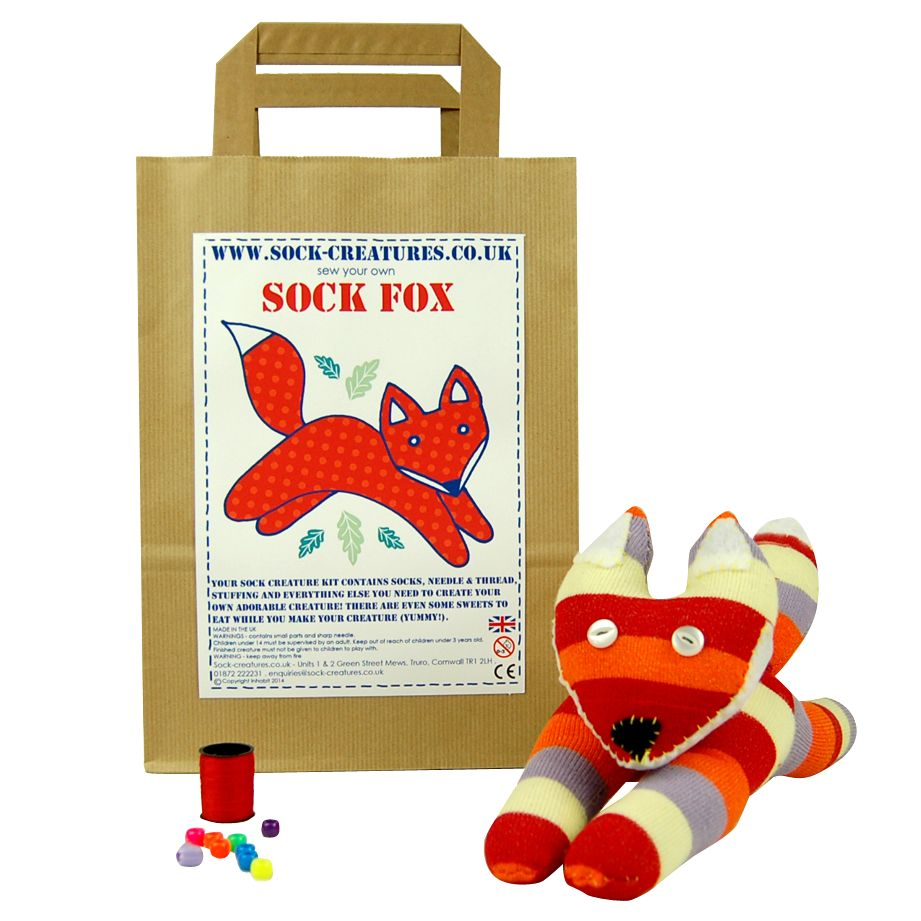 Sock Creatures Sock Creatures Sock Fox Craft Kit