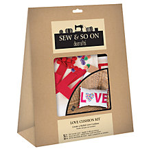 Buy Docrafts 'Love' Cushion Pillow Online at johnlewis.com