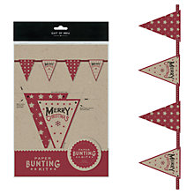 Buy East of India Christmas Bunting Kit, 3m Online at johnlewis.com