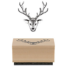 Buy East of India Stag Head Rubber Stamp Online at johnlewis.com