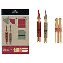 Buy East of India Nordic Elf Peg Dolly Set Online at johnlewis.com