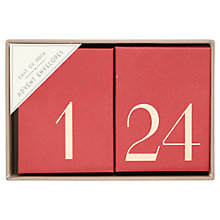 Buy Numbered Advent Envelopes, Red Online at johnlewis.com