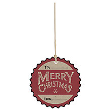 Buy Merry Christmas Gift Tags, Pack of 6 Online at johnlewis.com