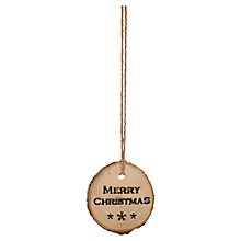 Buy East of India Round 'Merry Christmas' Woodland Tag Online at johnlewis.com