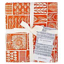 Buy John Lewis Malmo Multi Print Fabric, Pack of 4 Online at johnlewis.com