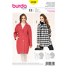 Buy Burda Women's Coat Sewing Pattern, 6844 Online at johnlewis.com
