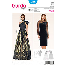 Buy Burda Women's Evening Gown Sewing Pattern, 6868 Online at johnlewis.com