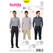 Buy Burda Men's Shirt Sewing Pattern, 6874 Online at johnlewis.com