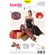 Buy Burda Ottoman & Cushions Sewing Pattern, 6881 Online at johnlewis.com