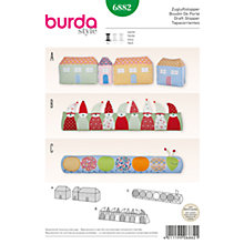Buy Burda Draught Excluder Sewing Patterns, 6882 Online at johnlewis.com