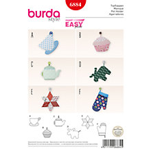 Buy Burda Home Pot Holder Sewing Pattern, 6884 Online at johnlewis.com