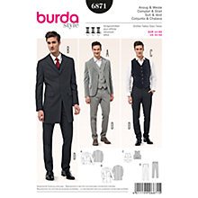 Buy Burda Men's 3-Piece Suit Sewing Pattern, 6871 Online at johnlewis.com
