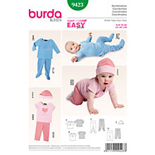 Buy Burda Baby Outfit Sewing Pattern, 9423 Online at johnlewis.com