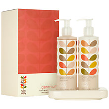 Buy Orla Kiely Geranium Hand Wash and Lotion Set Online at johnlewis.com