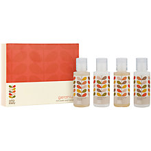 Buy Orla Kiely Mini Geranium Bath And Hand Set Online at johnlewis.com