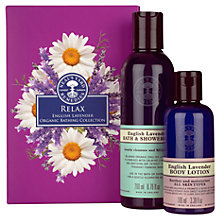 Buy Neal's Yard Remedies Relax English Lavender Organic Bathing Collection Online at johnlewis.com