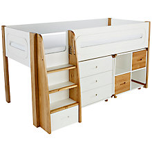 Buy Stompa Curve Mid-Sleeper, 3 Drawer Chest and Cube Shelving Unit, 2 Doors Online at johnlewis.com
