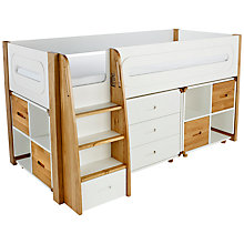 Buy Stompa Curve Mid-Sleeper, 3 Drawer Chest and 2 Cube Shelving Units, 4 Doors Online at johnlewis.com