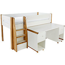 Buy Stompa Curve Mid-Sleeper and Desk, 2 Doors Online at johnlewis.com