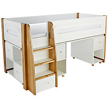 Buy Stompa Curve Mid-Sleeper, Desk and Cube Shelving Unit, 4 Doors Online at johnlewis.com