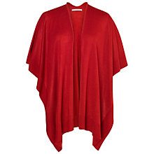 Buy Chesca Classic Bordered Wrap, Red Online at johnlewis.com