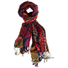 Buy Chesca Knitted Ruched Scarf, Multi Online at johnlewis.com