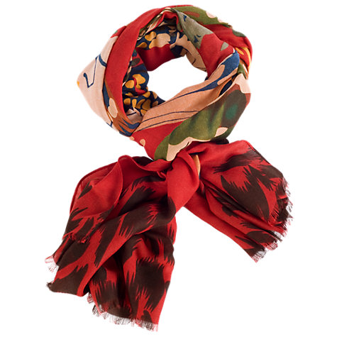 Buy Chesca Butterfly Print Scarf, Red Online at johnlewis.com