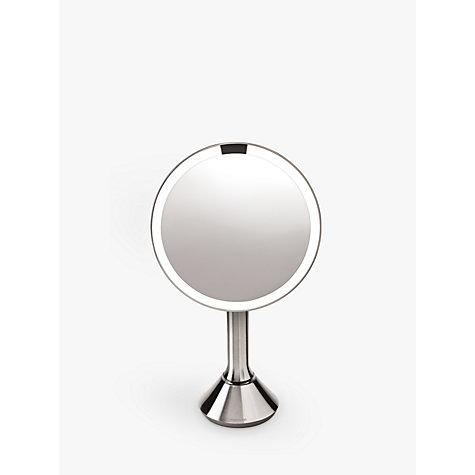 Buy Simplehuman Sensor Magnifying Pedestal Mirror John Lewis