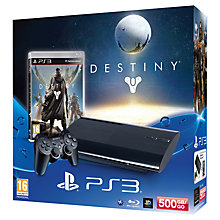 Buy Sony PlayStation 3 500GB Console with Destiny Online at johnlewis.com