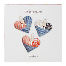 Buy John Lewis Hanging Hearts Craft Kit Online at johnlewis.com