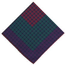 Buy Thomas Pink Square Dots Silk Handkerchief Online at johnlewis.com