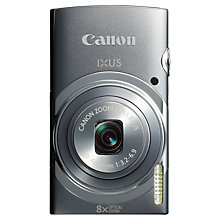 "Buy Canon IXUS 150 Digital Camera, HD 720p, 16MP, 8x Optical Zoom, 2.7"" LCD Screen, Grey with Memory Card Online at johnlewis.com"