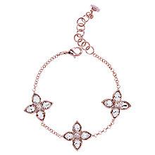 Buy Ted Baker Floryn Gem Flower Swarovski Crystal Rose Gold Plated Bracelet Online at johnlewis.com