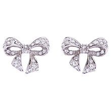 Buy Ted Baker Pepe Pave Crystal Bow Earrings Online at johnlewis.com