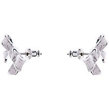 Buy Ted Baker Glori White Bronze Plated Bow Earrings Online at johnlewis.com