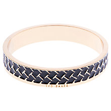 Buy Ted Baker Clowi Enamel T Pattern Bangle Online at johnlewis.com