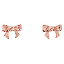 Buy Ted Baker Glori Rose Gold Plated Bow Earrings Online at johnlewis.com