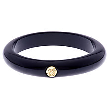 Buy Ted Baker Ryleey Resin White Bronze Plated Button Bangle Online at johnlewis.com