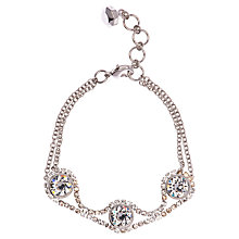 Buy Ted Baker Stelle Swarovski Crystal White Bronze Plated Chain Bracelet Online at johnlewis.com