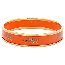 Buy Halcyon Days 18ct Gold Plated Tiger Bangle, Orange Online at johnlewis.com