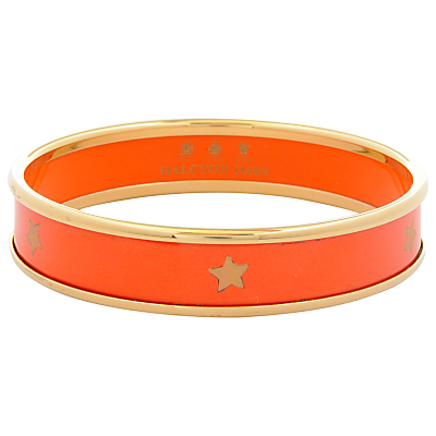 Halcyon Days 18ct Gold Plated Gold Star Small Bangle, Orange