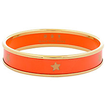 Buy Halcyon Days 18ct Gold Plated Gold Star Small Bangle, Orange Online at johnlewis.com
