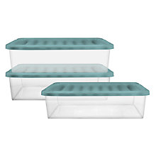 Buy John Lewis Underbed Plastic Storage Boxes, Set of 3 Online at johnlewis.com