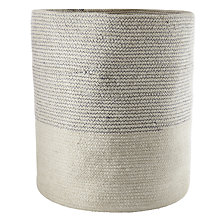 Buy John Lewis Croft Collection Braided Cylinder Basket Online at johnlewis.com
