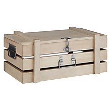 Buy John Lewis Croft Collection Lime Washed Box Crate, Antique White Online at johnlewis.com
