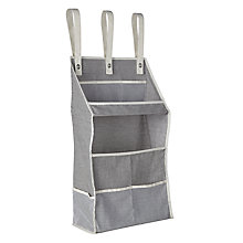 Buy John Lewis Chambray Hanging Shelves, Grey Online at johnlewis.com
