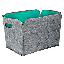 Buy House by John Lewis Felt Storage Bucket, Mint Online at johnlewis.com