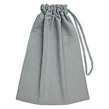 Buy John Lewis Croft Collection Laundry Bag, Pale Grey Online at johnlewis.com