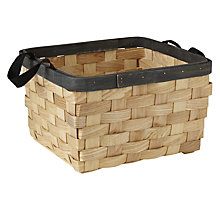 Buy John Lewis Fusion Wooden Storage Basket Online at johnlewis.com