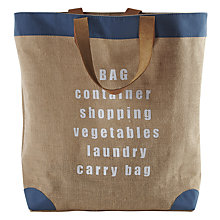 Buy John Lewis Croft Collection Worded Shopper Online at johnlewis.com